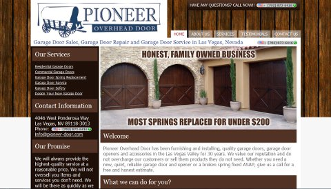 Pioneer Overhead Door Web Design
