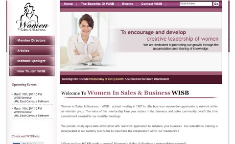 Women In Sales and Business Web Design